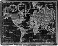 Black and White World Map (1760) Inverse