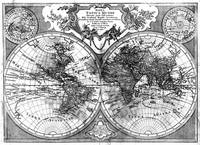 Black and White World Map (1775)