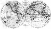 Black and White World Map (1795)