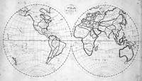 Black and White World Map (1811)