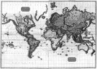 Black and White World Map (1812)