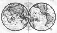 Black and White World Map (1820)