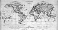 Black and White World Map (1827)