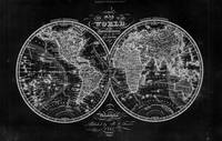 Black and White World Map (1842)