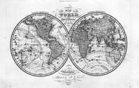 Black and White World Map (1842) 2