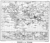 Black and White World Map (1880)