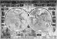 Black and White World Map (1883)