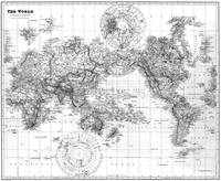 Black and White World Map (1901) 2