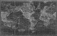 Black and White World Map (1901) Inverse 2