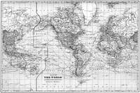 Black and White World Map (1901)