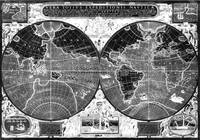 Black and white World Map (1595) Inverse
