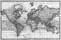 Black and White World Map (1780)