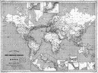 Black and White World Map (1898)