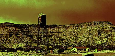 thirsty southwest-golden backdrop watertower