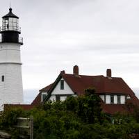 Portland Head Light Lighthouse Maine Art Prints & Posters by Valerie Waters