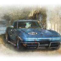 Blue Corvette Art Prints & Posters by Stuart Row