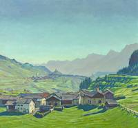 Carl August Liner, landscape alpine village