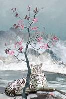 White Tiger And Plum Tree