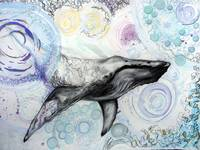 Whale 1. Mixed Media. 30 x 44