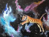 Space Tiger With Helmet