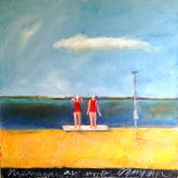 Swim At Your Own Risk Art Prints & Posters by Mary Scrimgeour