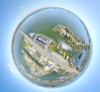 Atlantic Beach Causeway Tiny Planet