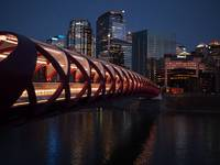 Calgary Peace Bridge at Night
