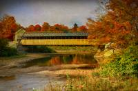 Covered Bridge Vermont Autumn