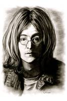 John Lennon In Black And White