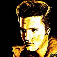Elvis In Gold And Black