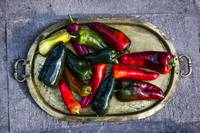 Peppers in a Brass Tray