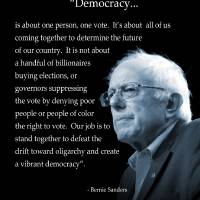 Bernie Sanders Democracy Poster by I.M. Spadecaller