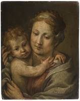 Bolognese School, 16th Century MADONNA AND CHILD