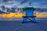 43rd Street Lifeguard Tower at Sunrise