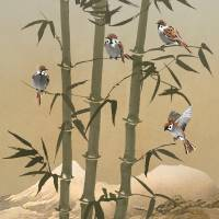 Sparrows And Bamboo by I.M. Spadecaller