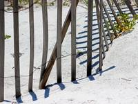 Beach Fence and Shadows