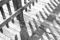 Washed Out Boardwalk Shadows
