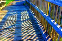 Blue Boardwalk Shadows