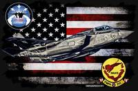 VMFA-211 AVENGERS F-35 HORIZONTAL BLACK HR