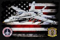 VMFA-314 BLACK KNIGHTS FA-18 HORIZONTAL BLACK HR