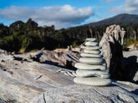 Stacked Rocks - West Coast of New Zealand