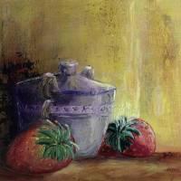 Strawberries and Sugar Art Prints & Posters by Christine K. Jones