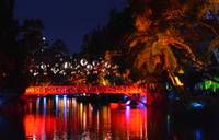 Poet's Bridge during Festival of Lights