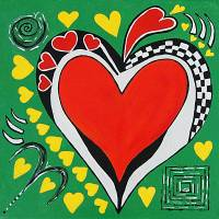 Hearts of Hearts Art Prints & Posters by Maggie Bernet