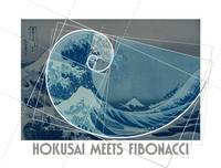 Hokusai Meets Fibonacci, Golden Ratio #2