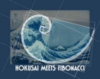 Hokusai Meets Fibonacci with Numerical Sequence, B