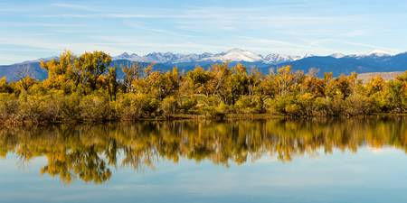 Colorado Continental Divide Autumn Reflections Pan
