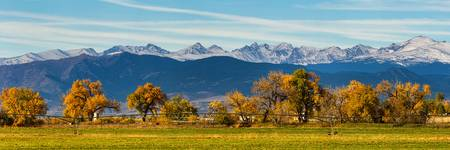 Rocky Mountain Autumn Farming Panorama