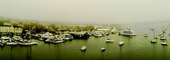 NEWPORT HARBOR IN THE FOG