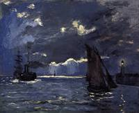 Claude Monet, A Seascape, Shipping by Moonlight